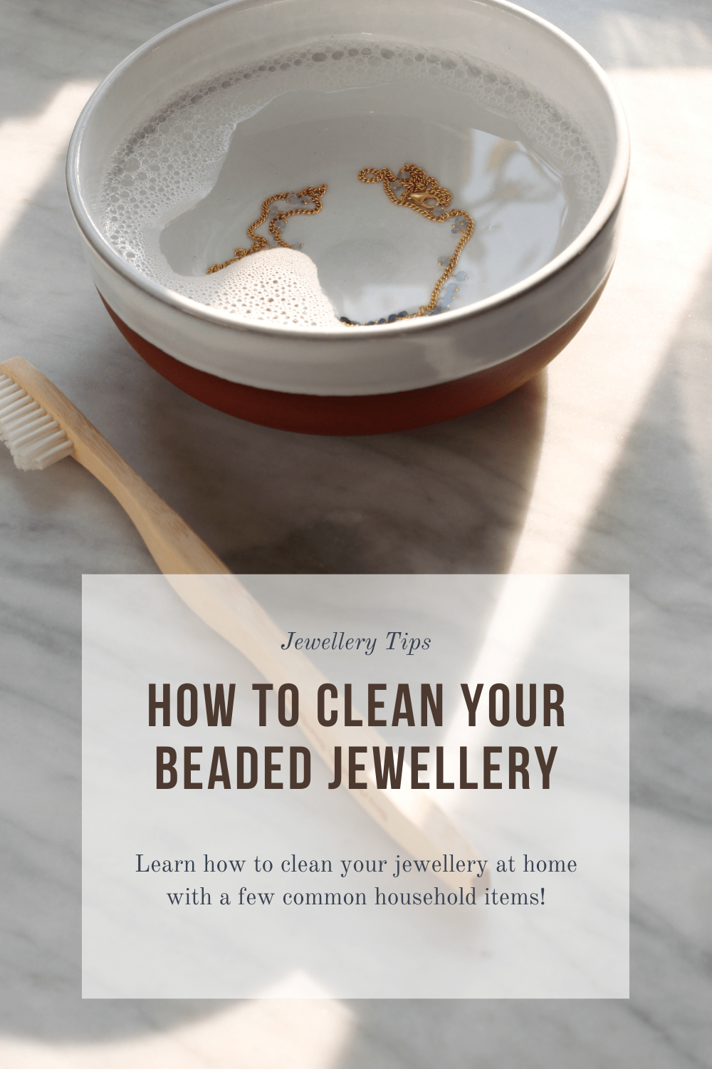 Jewellery Tips - how to clean your beaded jewellery. Pin to Pinterest.