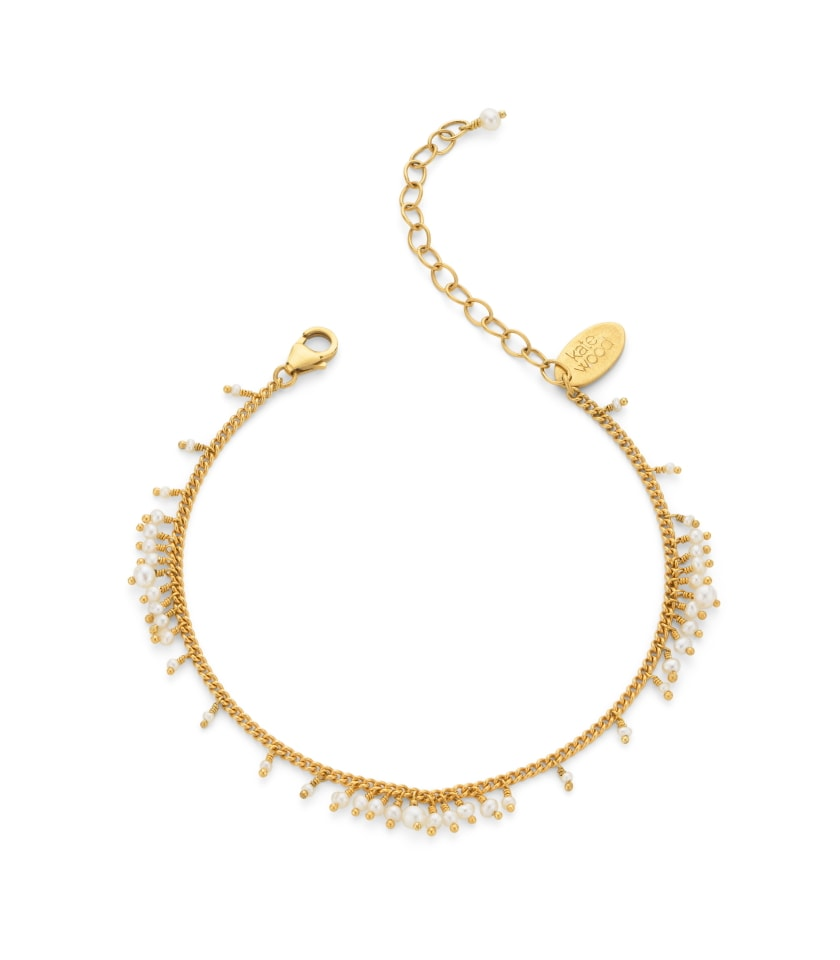 Pearl and gold vermeil beaded bracelet