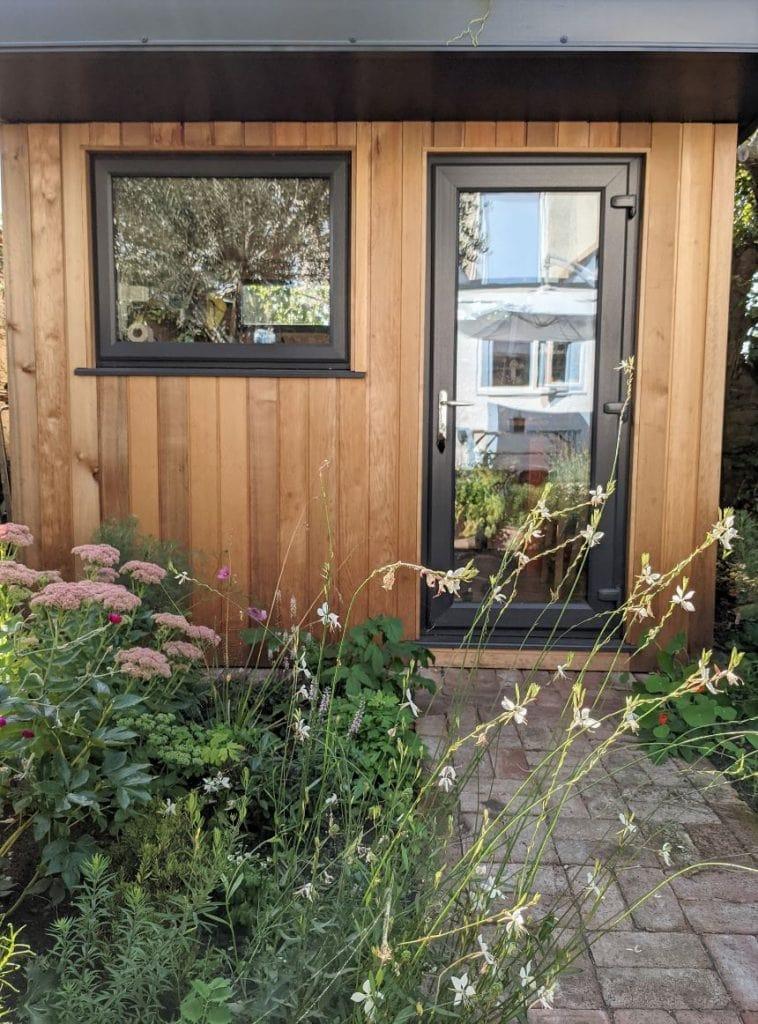 Photo of Kate Wood's garden jewellery studio